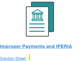 Improper Payments and IPERIA Solution Sheet