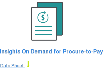 Insights On Demand for Procure-to-Pay Data Sheet