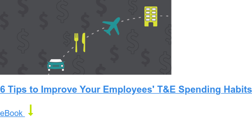 6 Tips to Improve Your Employees' T&E Spending Habits eBook